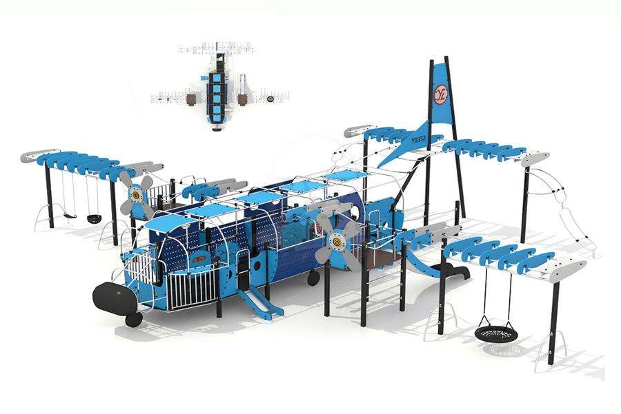 英奇利非標定制定做戶外兒童游樂設備不銹鋼PE板滑梯攀爬組合YQL-08525大飛機滑梯攀爬組合設備.jpg