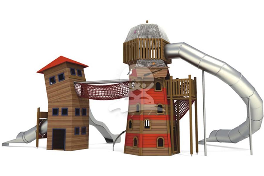 英奇利非標定制定做戶外兒童游樂設備不銹鋼滑滑梯YQL-08529兒童城堡滑梯.jpg