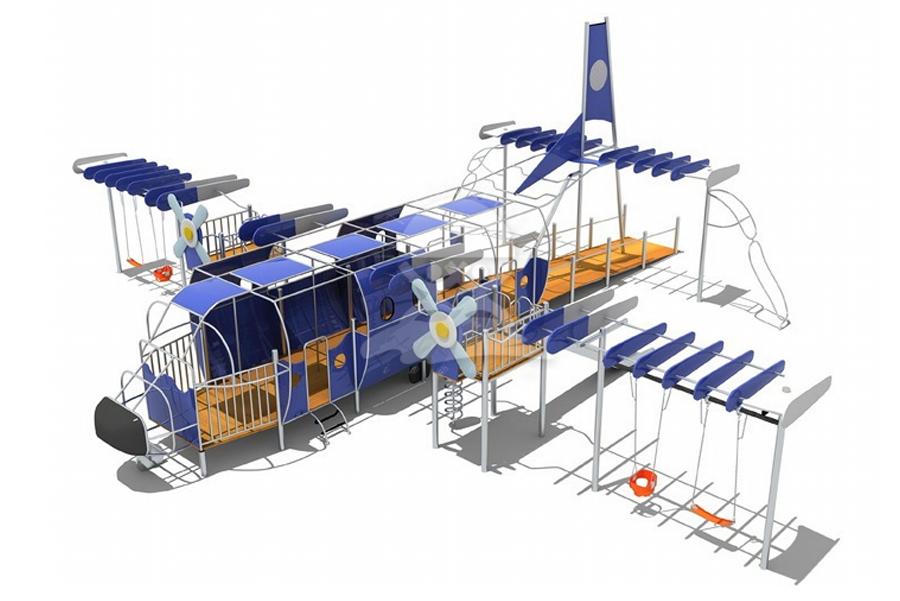 英奇利非標定制定做戶外兒童游樂設備不銹鋼PE板滑梯攀爬組合YQL-08525大飛機滑梯攀爬組合設備-.jpg