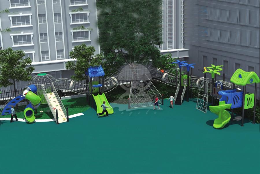 英奇利供應大型戶外幼兒園非標體能拓展訓練設施攀爬網架墻組合滑梯設備價格圖片YQL-13201.jpg