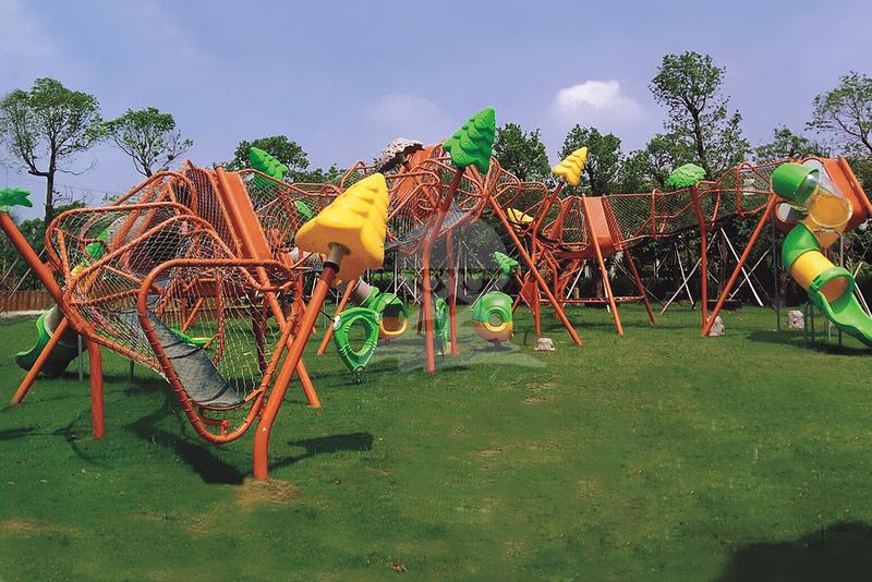 英奇利供應大型戶外幼兒園非標體能拓展訓練設施攀爬網架墻組合滑梯設備價格圖片YQL-12500.jpg