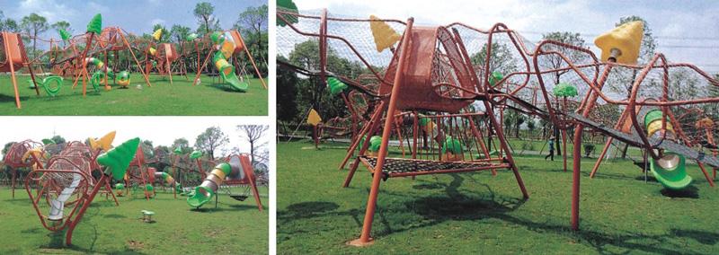 英奇利供應大型戶外幼兒園非標體能拓展訓練設施攀爬網架墻組合滑梯設備價格圖片YQL-12500--.jpg